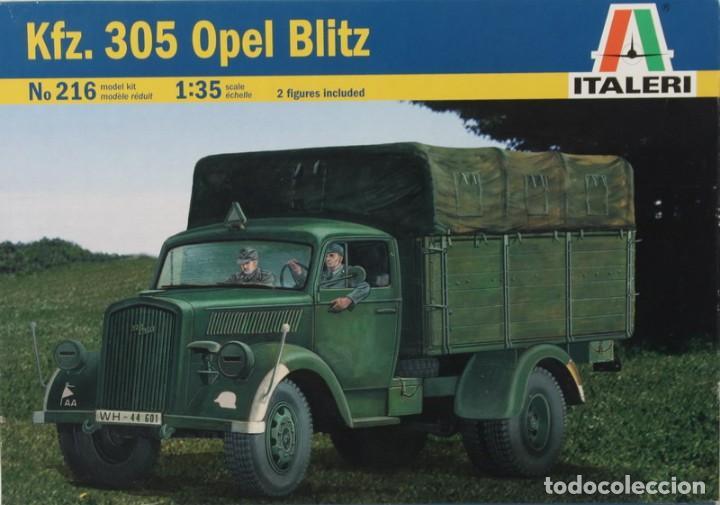 MAQUETA CAMIÓN OPEL BLITZ, KFZ. 305, REF. 216, 1/35, ITALERI (Juguetes - Modelismo y Radiocontrol - Maquetas - Militar)