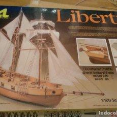 Maquetas: MAQUETA DE MADERA,BARCO CLIPPER LIBERTY - ESC. 1:100, MODELISMO NAVAL, ARTESANIA LATINA 1988, NUEVO. Lote 147742514