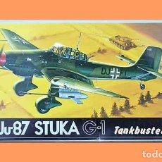 Maquetas: MAQUETA DEL BOMBARDERO EN PICADO JUNKERS JU-87G-1 STUKA (TANKBUSTER) DE FUJIMI A 1/72. Lote 148534482