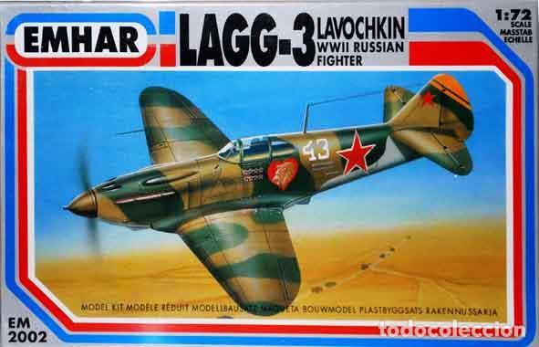 MAQUETA DEL CAZA SOVIÉTICO LAVOCHKIN LAGG-3 DE EMHAR A ESCALA 1/72 (Juguetes - Modelismo y Radio Control - Maquetas - Aviones y Helicópteros)