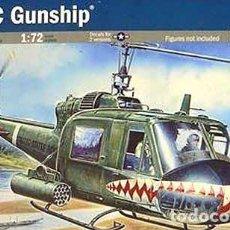 Maquetas: MAQUETA DEL HELICÓPTERO BELL UH-1C GUNSHIP (CAÑONERO) DE ITALERI A 1/72. Lote 148536546