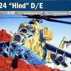 Maquetas: MAQUETA DEL HELICÓPTERO DE ATAQUE RUSO MIL MI-24D/E (HIND) DE ITALERI A 1/72. Lote 148536958