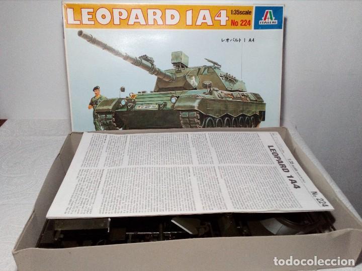 Maquetas: LEOPARD 1 A4 -Nº 224 - TANQUE DE LA ALEMANIA Fed. MAQUETA 1/35 ITALERI - PRÁCTICAMENTE A ESTRENAR - Foto 10 - 149870198