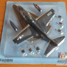Maquetas: AVIONES: MAQUETA EN METAL ITALERI ESCALA 1/100 : MODELO AVION F-9 PANTHER. Lote 150243626