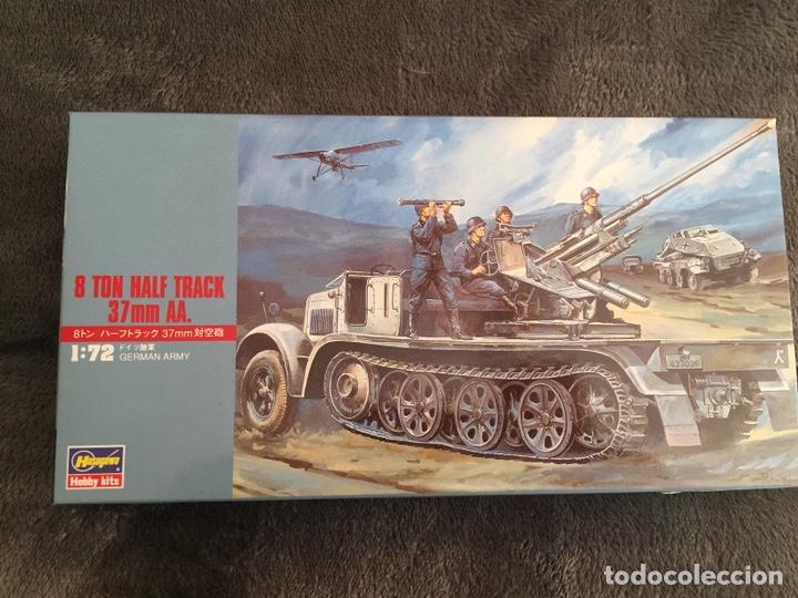 SDKFZ 7 8 TON HALF TRACK 37MM HASEGAWA 31118 MT18 MAQUETA CARRO SEMIORUGA (Juguetes - Modelismo y Radiocontrol - Maquetas - Militar)