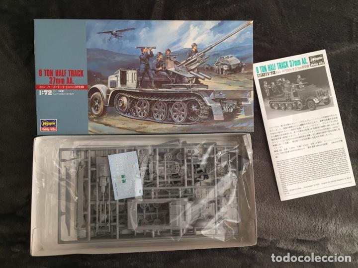Maquetas: sdkfz 7 8 ton half track 37mm HASEGAWA 31118 Mt18 maqueta carro semioruga - Foto 2 - 150358270