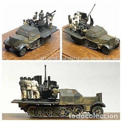 Maquetas: sdkfz 7 8 ton half track 37mm HASEGAWA 31118 Mt18 maqueta carro semioruga - Foto 7 - 150358270