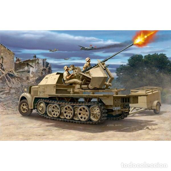 Maquetas: sdkfz 7 8 ton half track 37mm HASEGAWA 31118 Mt18 maqueta carro semioruga - Foto 9 - 150358270