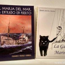 Maquetas: LOTE 2 OBRAS TEMÁTICA NAVAL: 1) EL MARIA DEL MAR HA ENTRADO EN PUERTO. LA GATA MARINA. Lote 150583146