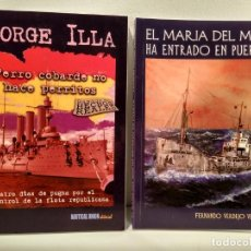 Maquetas: LOTE 2 OBRAS TEMÁTICA NAVAL: EL MARIA DEL MAR HA ENTRADO EN PUERTO / PERRO COBARDE NO HACE PERRITOS. Lote 150631210