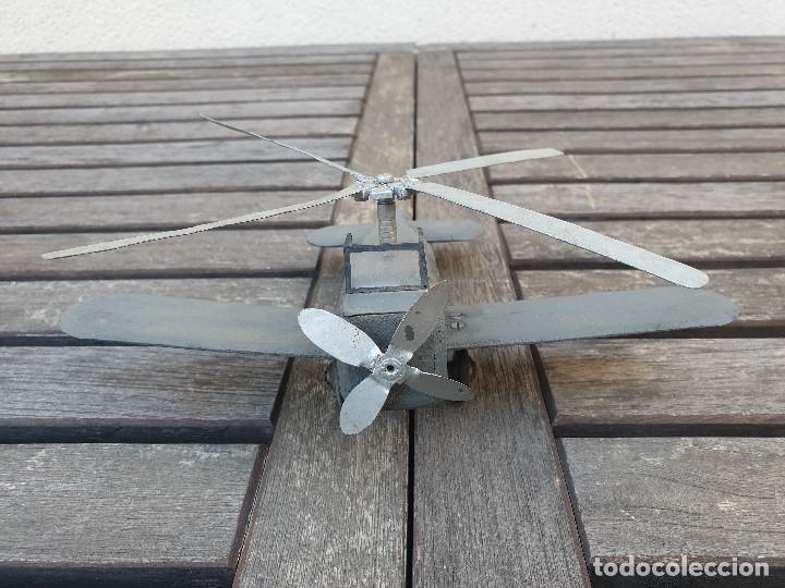 Maquetas: ANTIGUA Y RARA AVIONETA AUTOGIRO (HELICOPTERO) DE MADERA - Foto 3 - 150647410