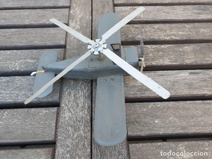 Maquetas: ANTIGUA Y RARA AVIONETA AUTOGIRO (HELICOPTERO) DE MADERA - Foto 6 - 150647410