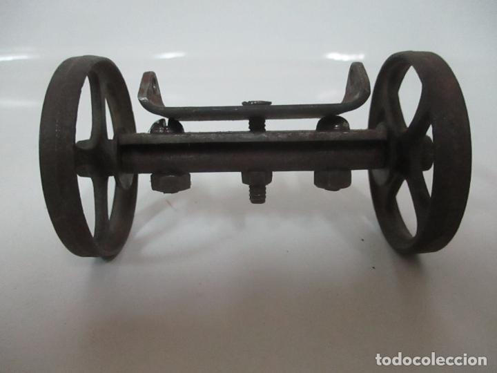 Maquetas: Antiguas Ruedas Metálicas - Maqueta - Metal - Artesanal - Años 40 - Foto 2 - 150747838