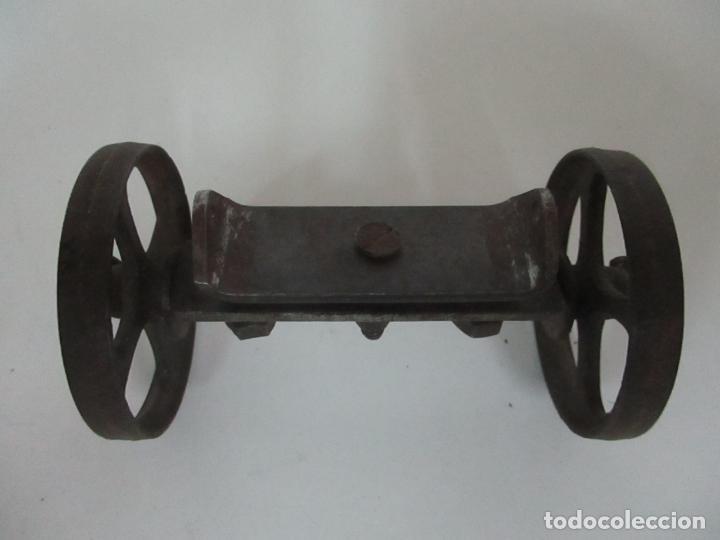 Maquetas: Antiguas Ruedas Metálicas - Maqueta - Metal - Artesanal - Años 40 - Foto 8 - 150747838