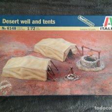 Maquetas: DESERT WELL & TENTS 1:72 ITALERI 6148 MAQUETA DIORAMA CARRO WARGAME DIORAMA. Lote 151460522