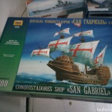 Maquetas: ZVEZDA 1/100 CONQUISTADORES SAN GABRIEL. Lote 151499028