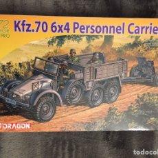 Maquetas: KFZ.70 6X4 PERSONAL CARRIER W/ PAK 36/37 1:72 DRAGÓN 7377 MAQUETA VEHICULO CAÑON DIORAMA CARRO. Lote 151563018