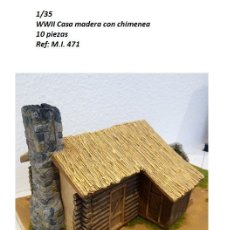 Maquetas: WWII CASA TRONCOS MADERA 1/35 PARA DIORAMA RUINS BUILDING. Lote 151570050
