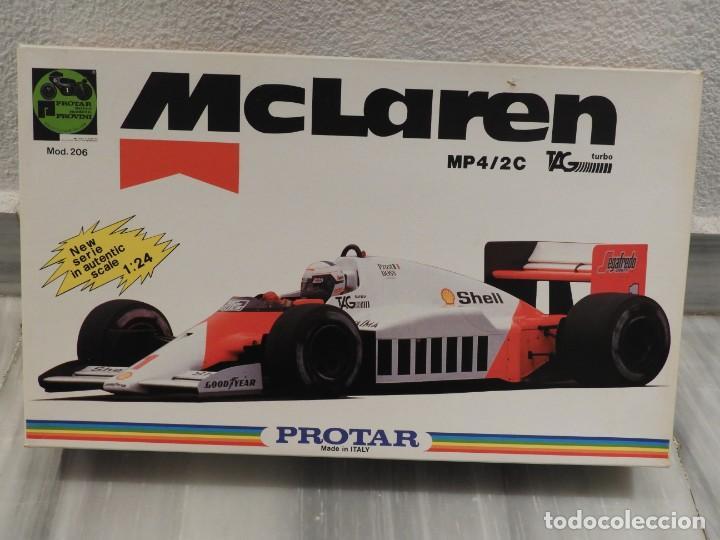 IMPRESIONANTE MAQUETA MCLAREN MP4/2C TAG TURBO - ESCALA 1/24 - PROTAR - 1986 - COMPLETO - NUEVO (Juguetes - Modelismo y Radiocontrol - Maquetas - Coches y Motos)