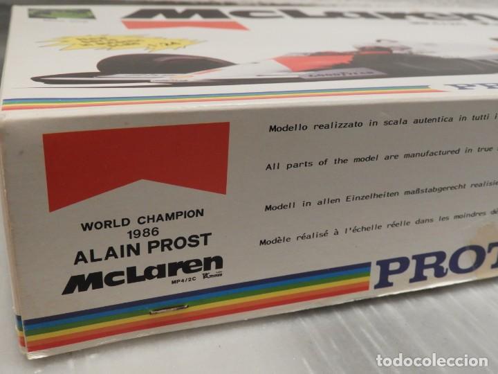Maquetas: IMPRESIONANTE MAQUETA MCLAREN MP4/2C TAG TURBO - ESCALA 1/24 - PROTAR - 1986 - COMPLETO - NUEVO - Foto 2 - 151638410