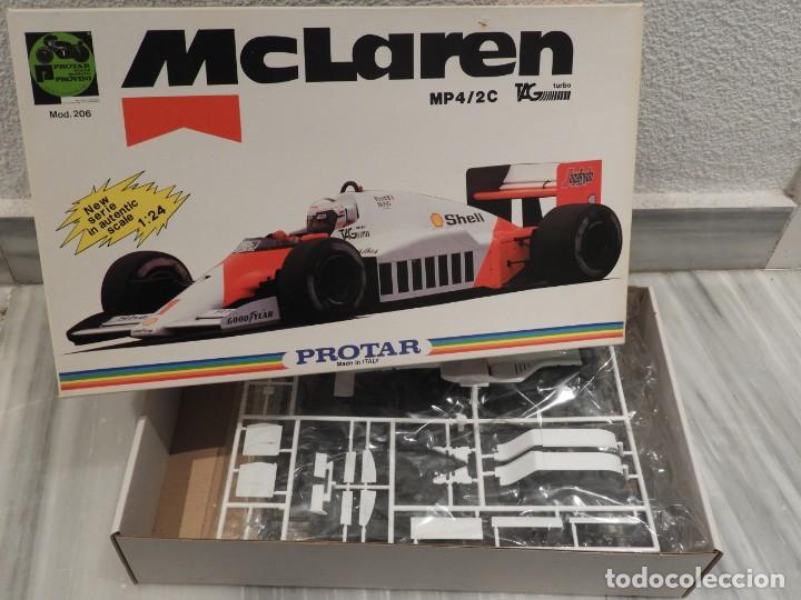 Maquetas: IMPRESIONANTE MAQUETA MCLAREN MP4/2C TAG TURBO - ESCALA 1/24 - PROTAR - 1986 - COMPLETO - NUEVO - Foto 3 - 151638410