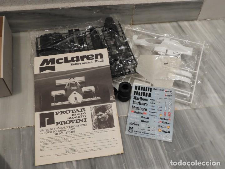 Maquetas: IMPRESIONANTE MAQUETA MCLAREN MP4/2C TAG TURBO - ESCALA 1/24 - PROTAR - 1986 - COMPLETO - NUEVO - Foto 4 - 151638410