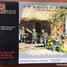 Maquetas: WAFFEN SS 1943 KURKS SET 1 1:72 PEGASUS 7201 MAQUETA FIGURA DIORAMA. Lote 151904186