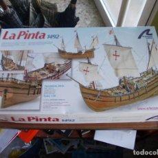 Maquetas: CAJA LA PINTA 1492 ARTESANIA LATINA. RESTOS DE PIEZAS, DIVERSOS CATÁLOGOS, PLANOS, VARIOS BARCOS. Lote 151968770