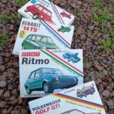 Maquetas: LOTE MAQUETAS CLÁSICOS-GOLF GTI,FIAT RITMO,RENAULT 14TS,CITROEN DYANE6 MODEL KIT 1:48(MADE IN ITALY). Lote 151970446