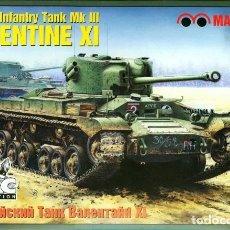 Maquetas: MAQUETA 1/35 - BRITISH INFANTRY TANK MK III VALENTINE XI MAQUETTE - NR. MQ-3553 - 1:35. Lote 152141778