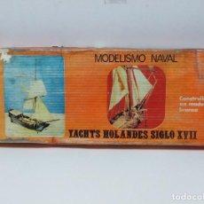 Maquetas: YACHTS HOLANDES S. XVII- MODELISMO NAVAL - ESCALA 1:50 - KIT EN MADERA Y BRONCE - DONOCIO S.A.. Lote 152718214