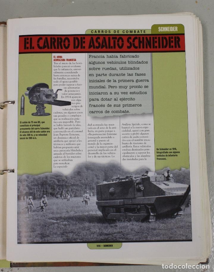 Maquetas: CARROS DE COMBATE. SALVAT 2001. LOTE DE 44 TANQUES EN PLOMO. INCOMPLETO + 1 ARCHIVADOR CON FICHAS - Foto 6 - 156054442