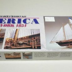 Maquetas: J- MAQUETA AMERICA NEW YORK 1851 ESCALA 1:56 CONSTRUCTO NEW OLD STOCK. Lote 153191094