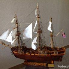 Maquetas: MAQUETA BARCO FRAGATA INGLESA HMS GRIMSBY ESCALA 1:65. Lote 153208428