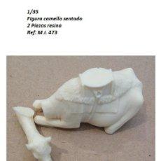 Macchiette: WWII FIGURA CAMELLO SENTADO RESINA 1/35 ACCESORIOS DIORAMA. Lote 228402430