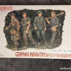 Maquetas: GERMAN INFANTRY ( BATTLE OF HEDGEROWS ) 1944 1:35 DRAGÓN 6025 BATALLA DE LOS SETOS O BOCAGE MAQUETA. Lote 153407617