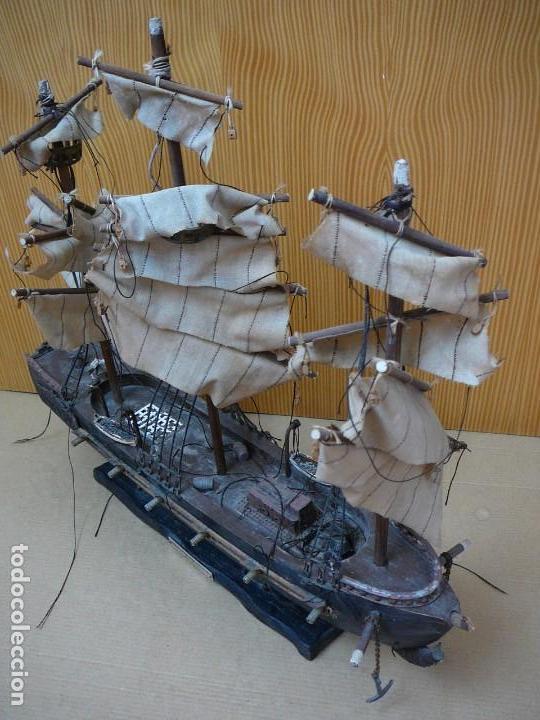 Maquetas: Maqueta Fragata Española 1780. Madera y plástico. Para restaurar. - Foto 2 - 153827174