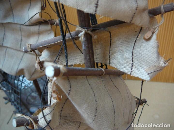 Maquetas: Maqueta Fragata Española 1780. Madera y plástico. Para restaurar. - Foto 4 - 153827174