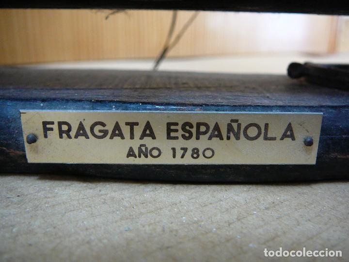 Maquetas: Maqueta Fragata Española 1780. Madera y plástico. Para restaurar. - Foto 12 - 153827174