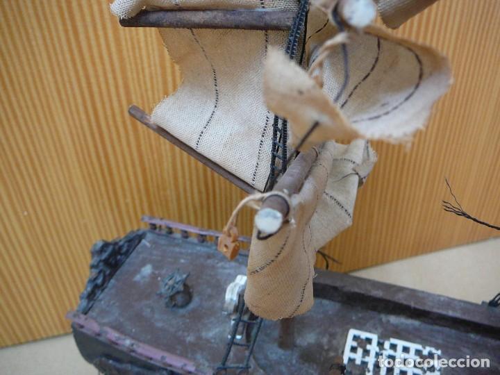 Maquetas: Maqueta Fragata Española 1780. Madera y plástico. Para restaurar. - Foto 14 - 153827174