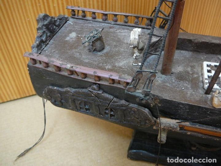 Maquetas: Maqueta Fragata Española 1780. Madera y plástico. Para restaurar. - Foto 15 - 153827174