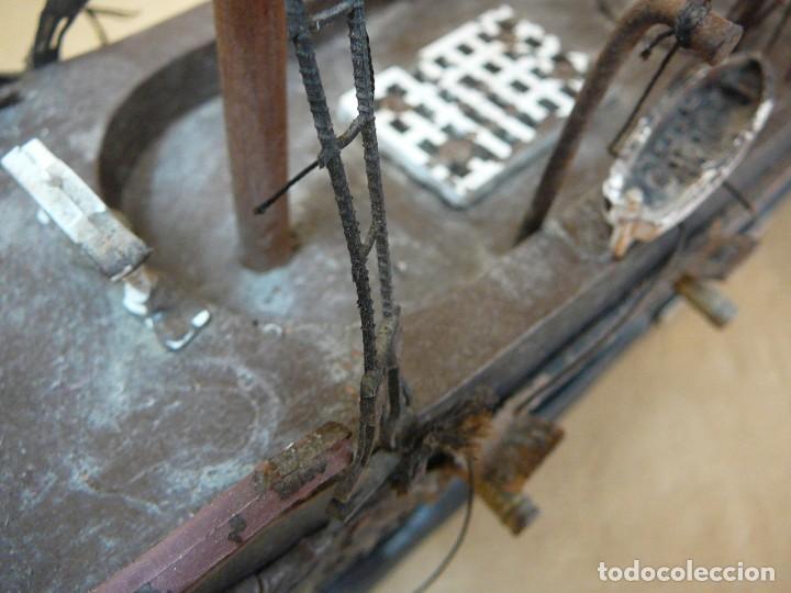 Maquetas: Maqueta Fragata Española 1780. Madera y plástico. Para restaurar. - Foto 24 - 153827174