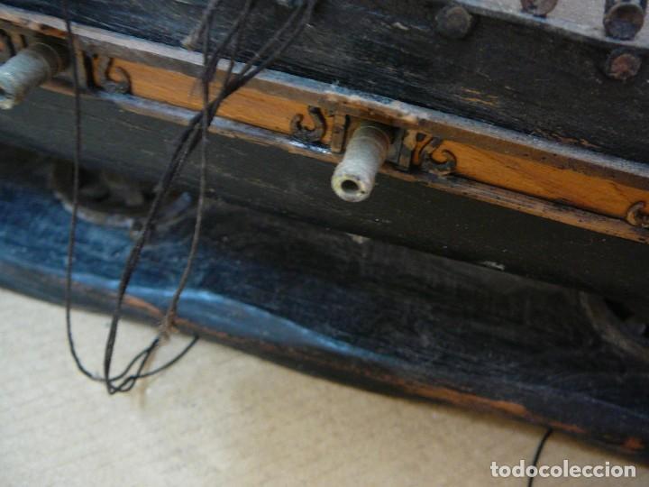 Maquetas: Maqueta Fragata Española 1780. Madera y plástico. Para restaurar. - Foto 36 - 153827174