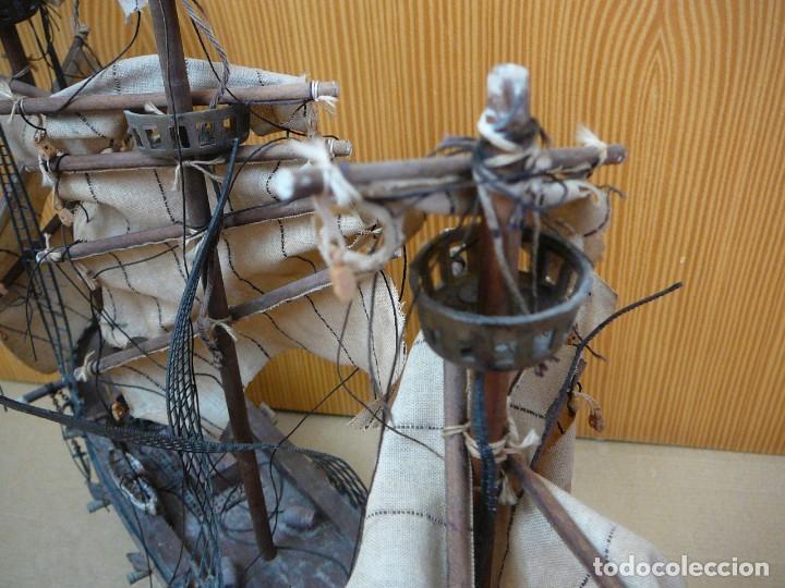 Maquetas: Maqueta Fragata Española 1780. Madera y plástico. Para restaurar. - Foto 37 - 153827174