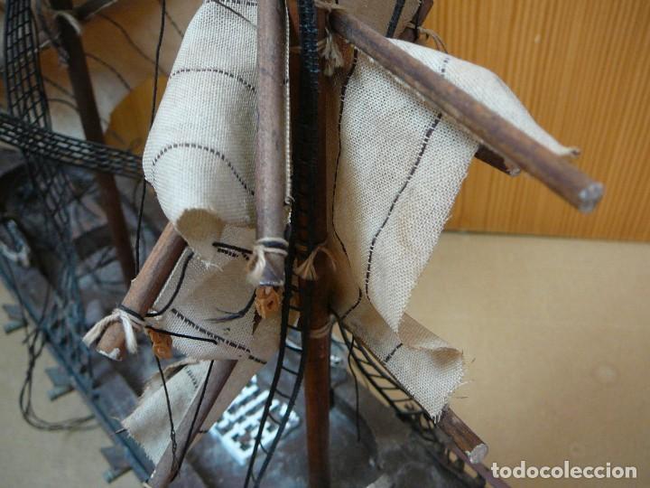 Maquetas: Maqueta Fragata Española 1780. Madera y plástico. Para restaurar. - Foto 38 - 153827174