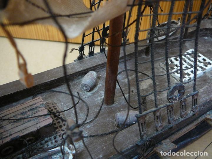 Maquetas: Maqueta Fragata Española 1780. Madera y plástico. Para restaurar. - Foto 51 - 153827174