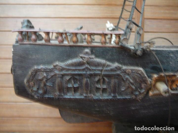 Maquetas: Maqueta Fragata Española 1780. Madera y plástico. Para restaurar. - Foto 64 - 153827174