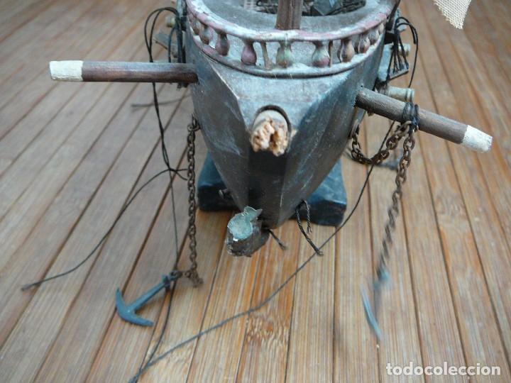 Maquetas: Maqueta Fragata Española 1780. Madera y plástico. Para restaurar. - Foto 74 - 153827174