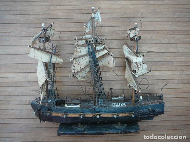 Maquetas: Maqueta Fragata Española 1780. Madera y plástico. Para restaurar. - Foto 76 - 153827174