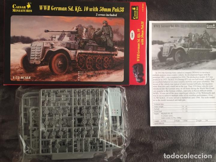 Maquetas: Sd.Kfz. 10 50mm PAK 38 1:72 Caesar Miniatures 7209 maqueta carro diorama - Foto 2 - 153896870